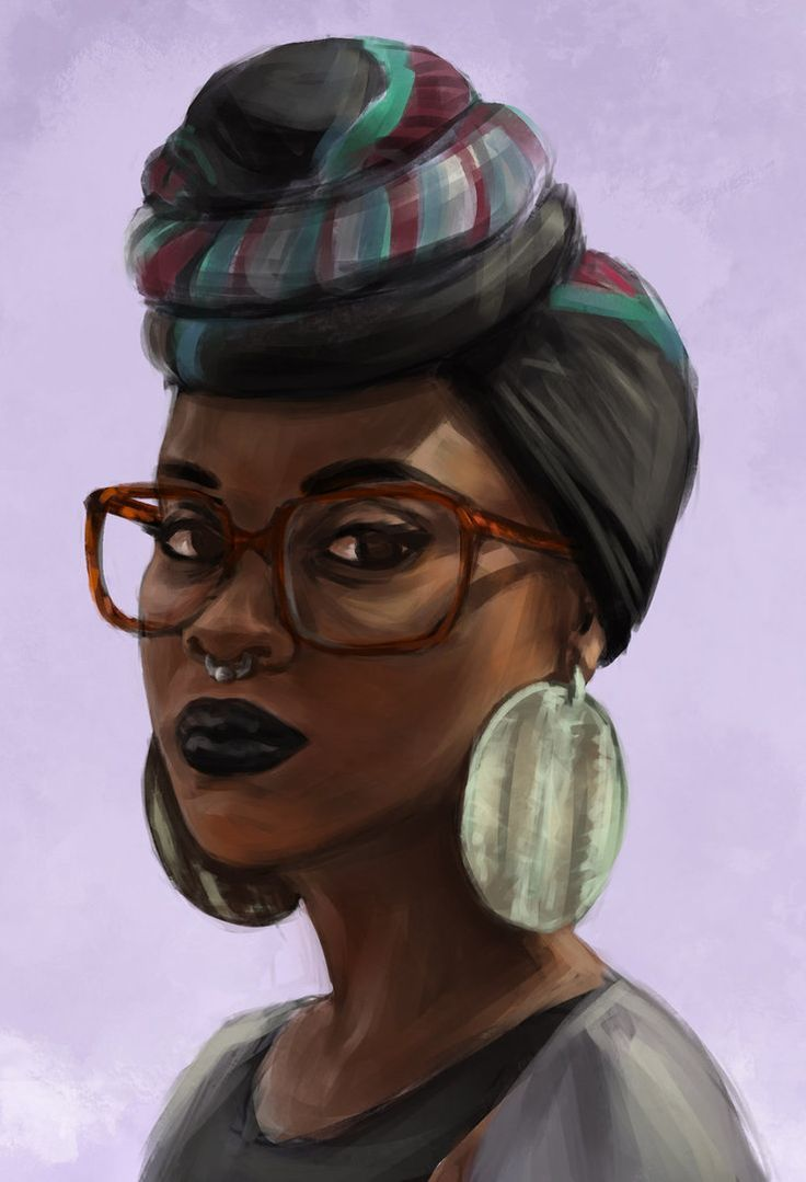 It is an image of Agile Afro Woman Drawing
