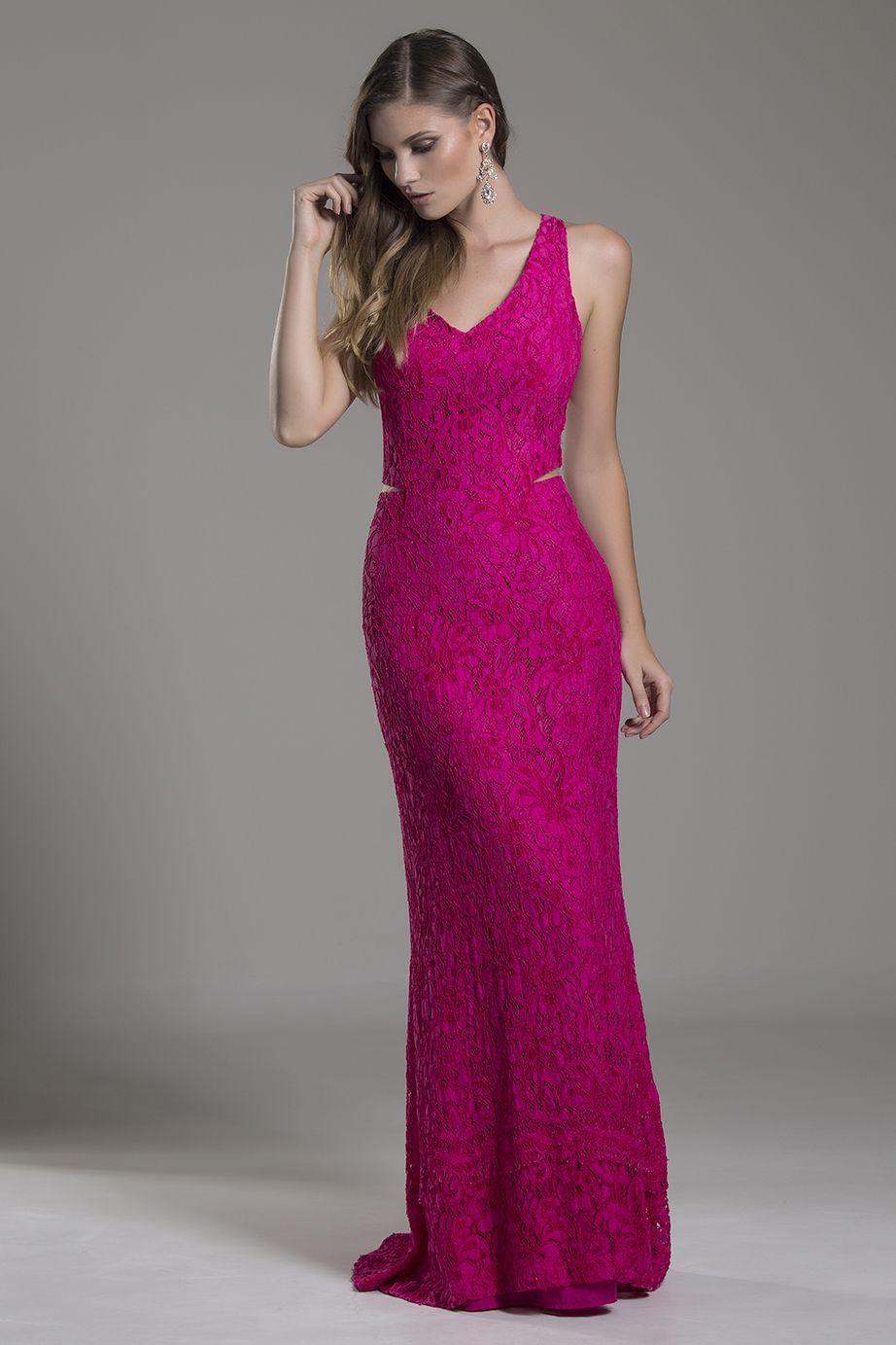 Resultado de imagem para vestido longo rosa | Lace | Pinterest ...
