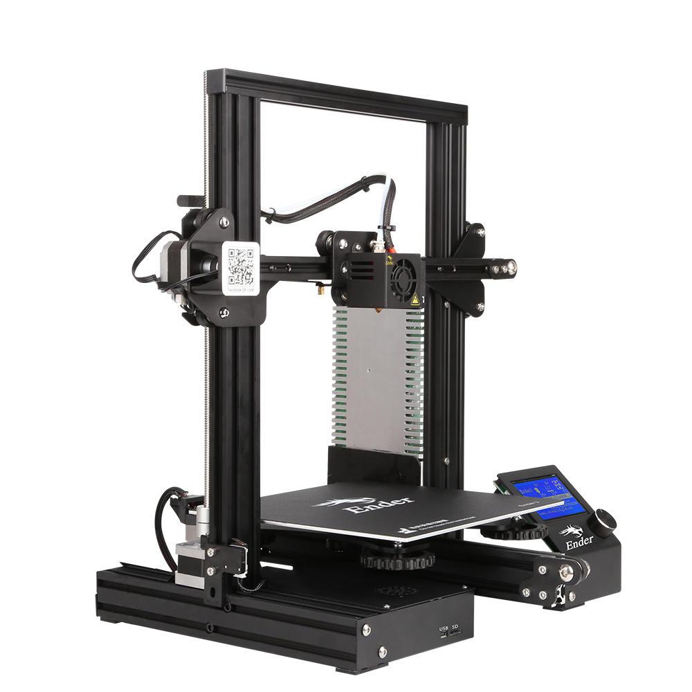 Ender 3 V-slot Prusa I3 DIY 3D Printer Kit High Precision 1.75mm 220x220x250mm