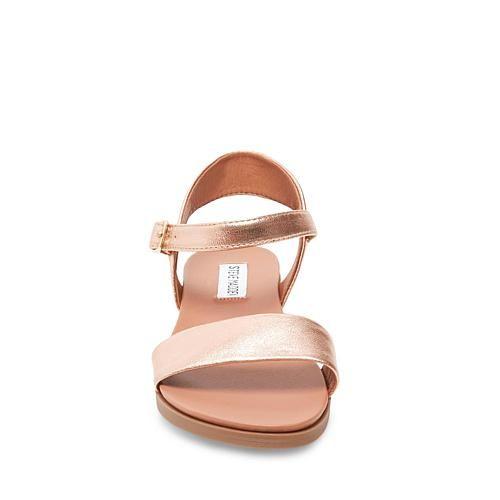 2c0ff1f62e6f Steve Madden Dina Leather Flat Sandal - 8777269