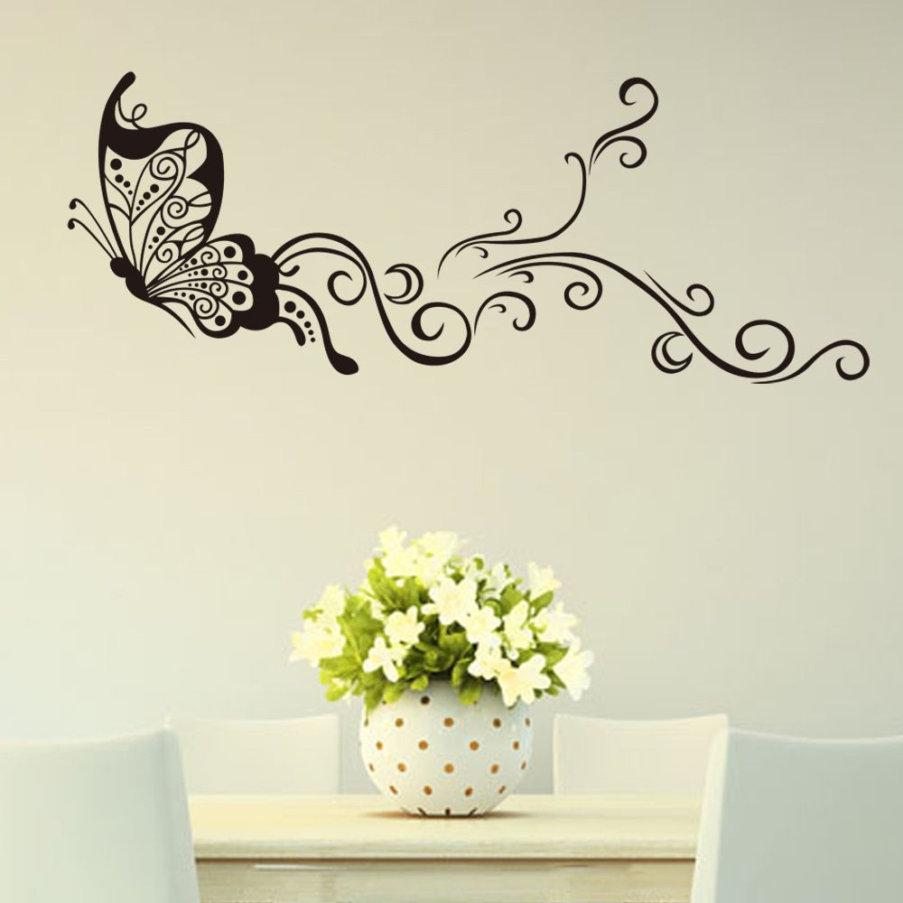 Aliexpress Com Buy Butterfly Wall Stickers Creativity Personality Wall Decoration Stickers Livin Diy Wall Painting Wall Stickers Home Decor Diy Wall Stickers