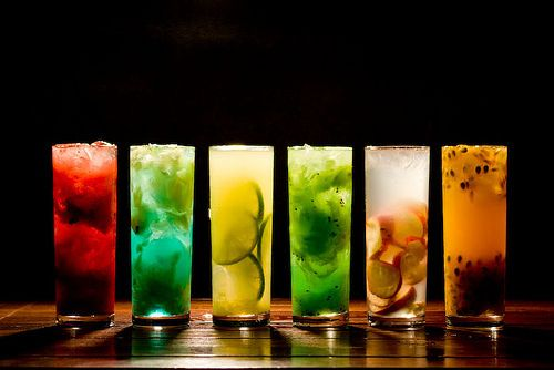 Cocktail - Different colors and different flavour