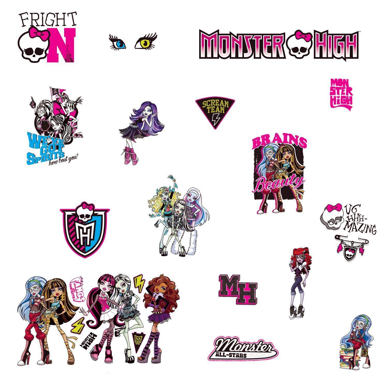 Monsters High Wall Decals Stickers Girls Room Redo Pinterest