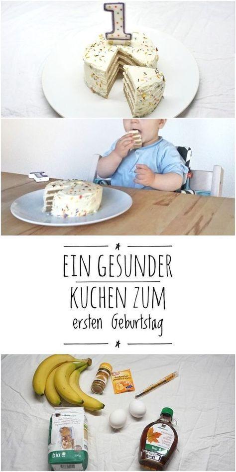 Ein Rezept für eine wunderbare gesunde, zuckerfreie und einfache Torte für Kinder zum 1. Geburtstag #tortegeburtstag