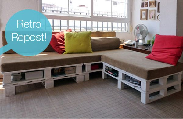 Crazy Affordable: DIY Shipping Pallet Couch For Seating In Office Or Living  Rm