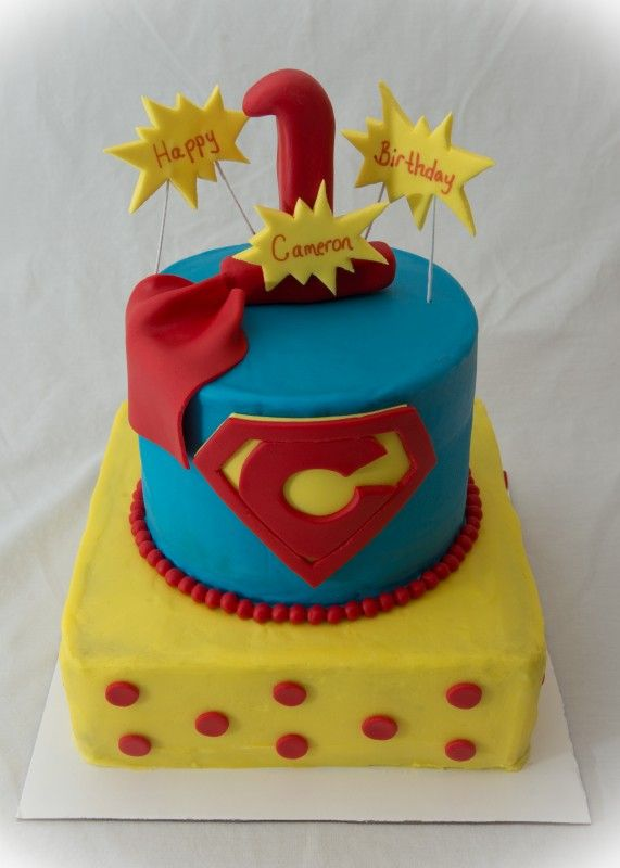Superman Birthday Cake Google Search Tanners 1st Birthday