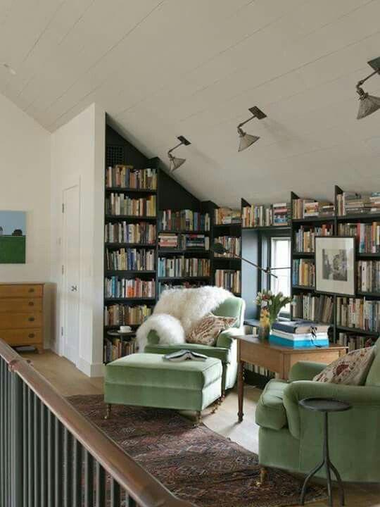 Beautiful Reading Room インテリア ソファー インテリア 収納 住宅建築デザイン