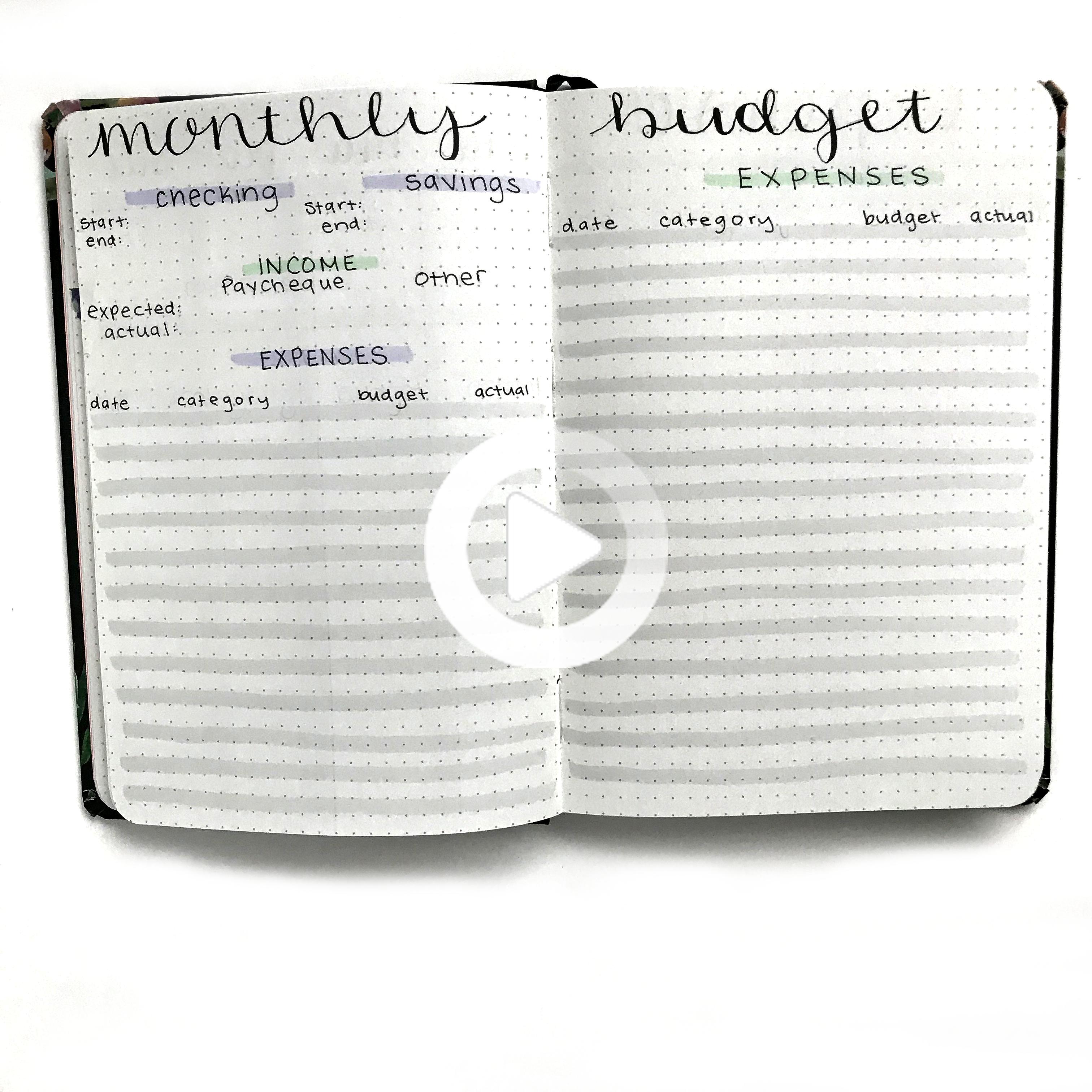 January Bullet Journal Monthly Setup