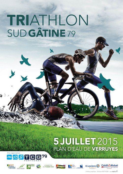 triathlon sudgatine affiche design poster pinterest triathlon brochures and. Black Bedroom Furniture Sets. Home Design Ideas