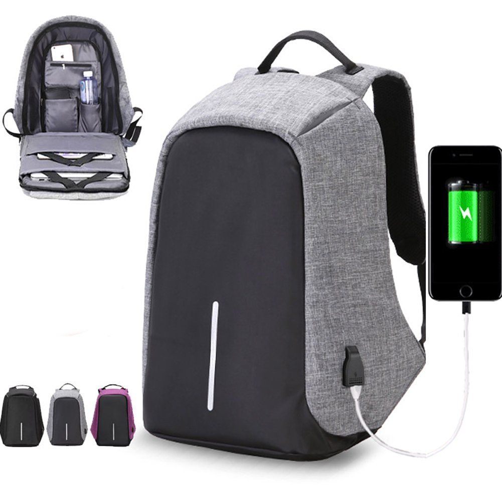 Diy laptop backpack - Halova Travel Backpack Anti Theft Laptop Backpack With Usb Charging Port Large Capacity