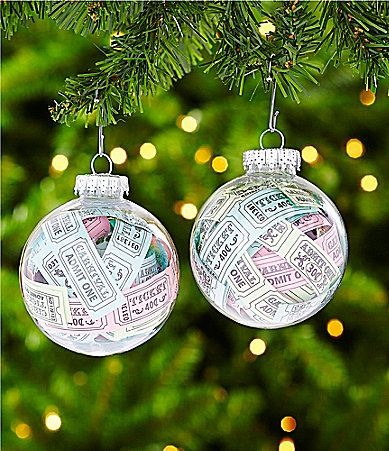 Dillards Trimmings Big Top Tidings Ticket Ball Ornament Set