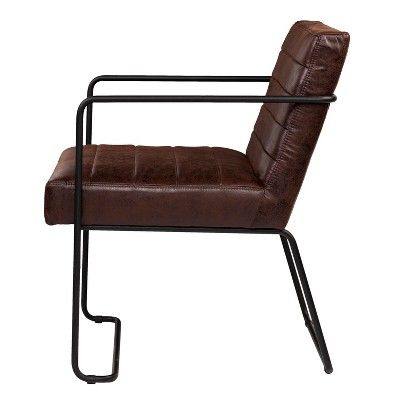 Fine Kentwood Faux Leather Accent Chair Brown Aiden Lane Dailytribune Chair Design For Home Dailytribuneorg