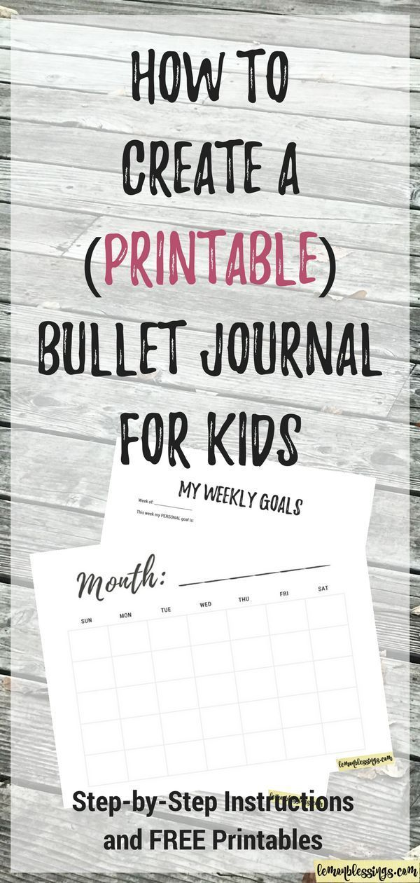 How to Create a Bullet Journal For Kids - Free Template Included