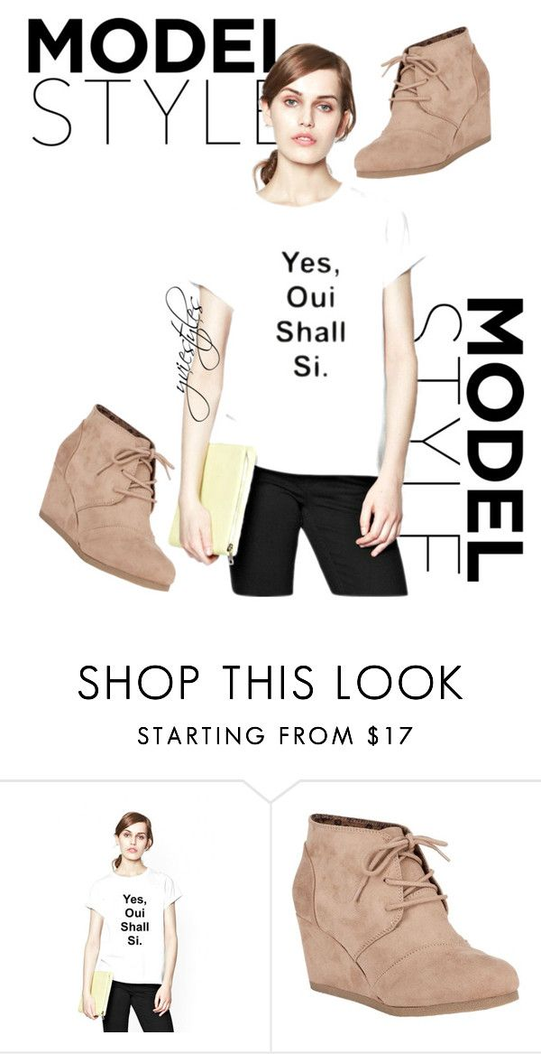 """Model Style"" by yviestyle ❤ liked on Polyvore featuring Oui and City Classified"