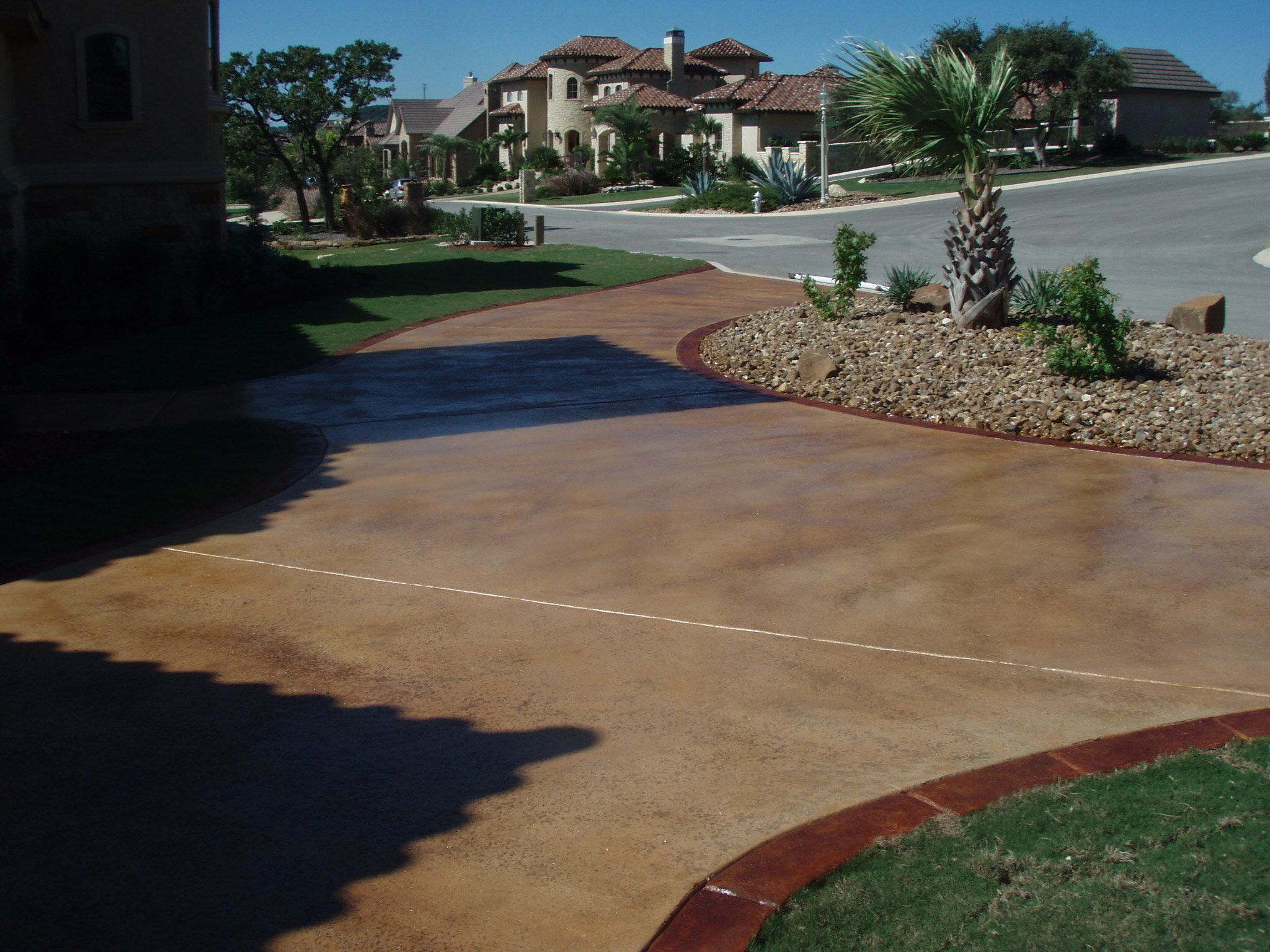 concrete stained driveways