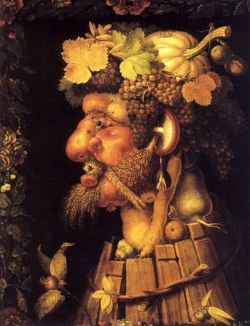 Le Visage En Fruits Et Legumes Arcimboldo Automne Art Ephemere Peintre