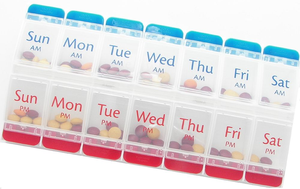 weekly pill box organizer | Push Button AM/PM Weekly Pill Organizer - Item 67585  sc 1 st  Pinterest & weekly pill box organizer | Push Button AM/PM Weekly Pill ... Aboutintivar.Com