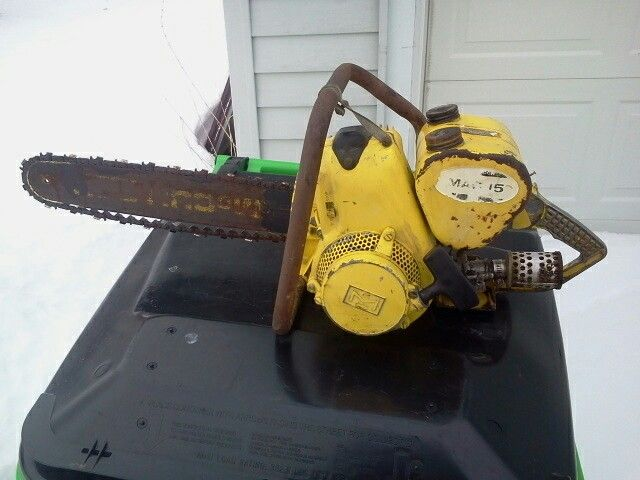 Vintage McCulloch Mac 15 mid 1950's   vintage chainsaw collection in