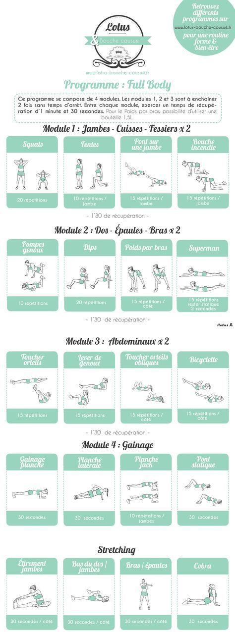 Programme Fitness Full Body n°2 - #Body #fitness #Full #Programme
