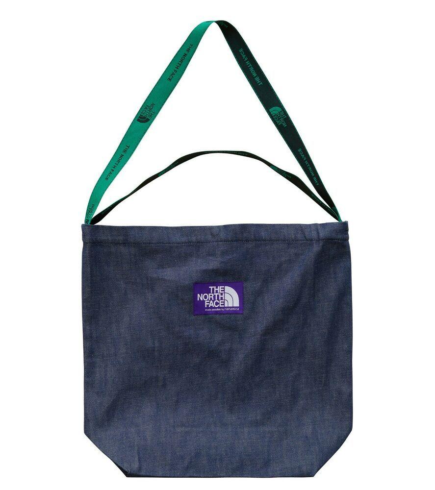 THE NORTH FACE PURPLE LABEL Denim Logo Tape Tote Bag
