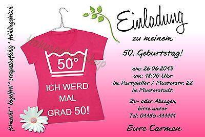 Einladungskarten 30 40 50 60 Geburtstag Einladungen