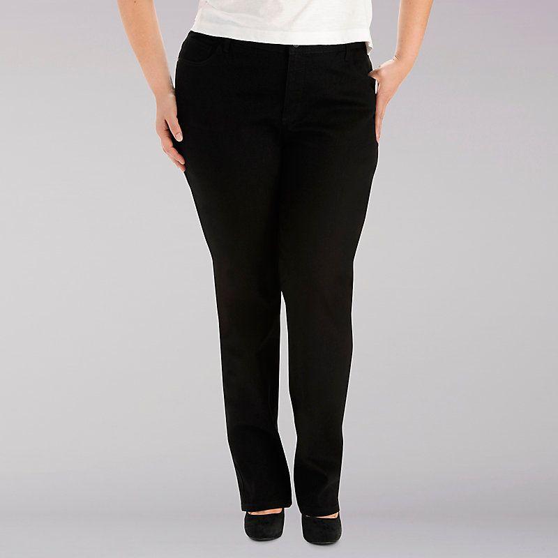 22900639c05 Lee Women s Classic Monroe Straight Leg Jeans - Plus Size  28W P ...