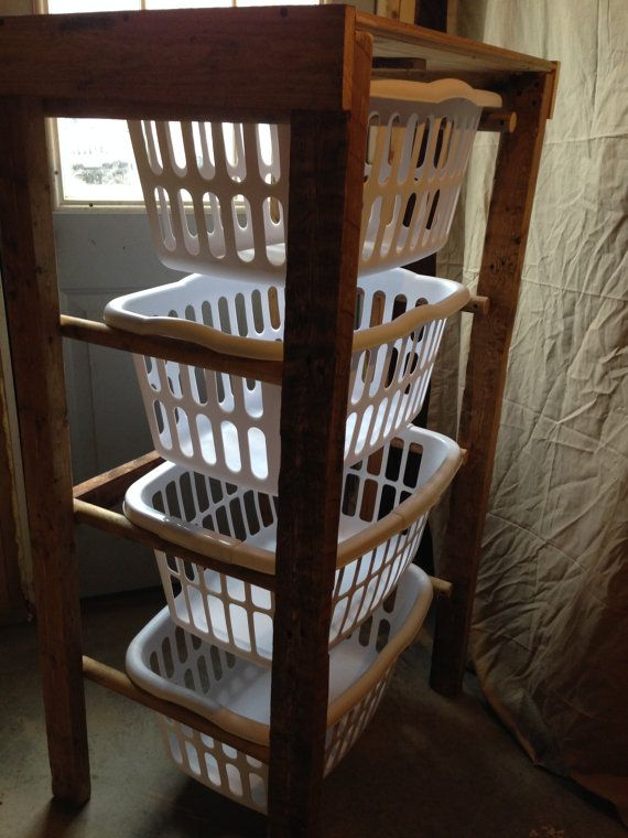 Laundry Hamper Laundry Basket Basket Stand By Mstwoodcreations