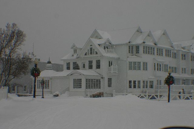 Grand Hotel Asleep For The Winter On A Frozen Mackinac Island Mackinac Island Mackinac Travel Leisure Magazine