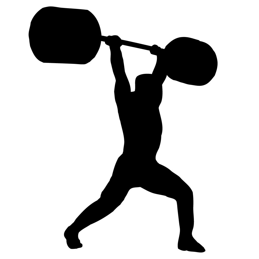 Image result for olympic lifter silhouette