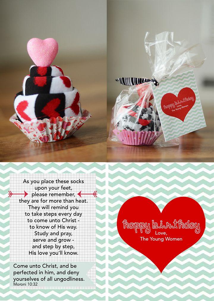 YW Birthday Gift Socks W Come Unto Christ Poem