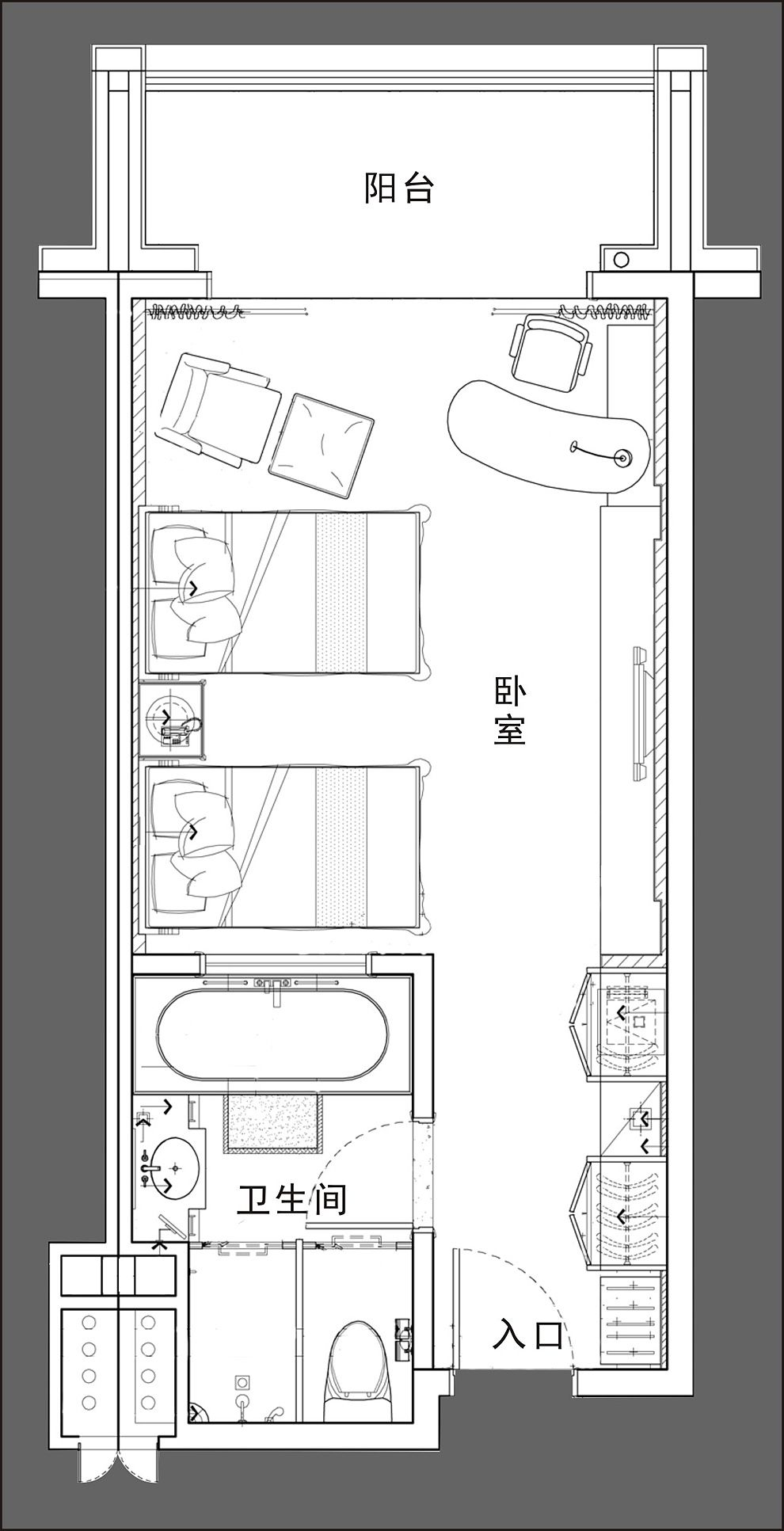 Quin Shan Hotel Suzhou Deluxe Twin 35 39 Hotel Room Design Plan Hotel Room Design Hotel Floor Plan