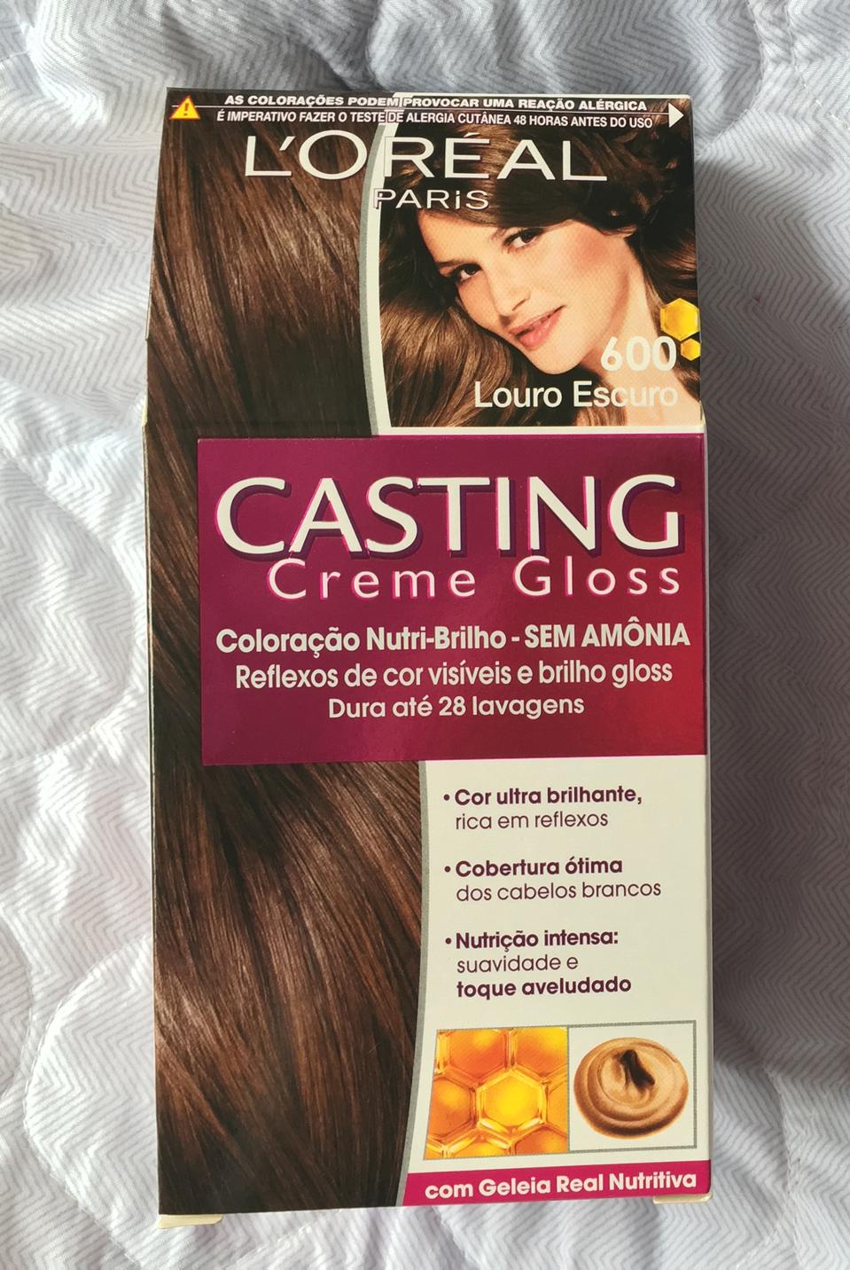Tonalizante Casting Creme Gloss - cor 600: Louro Escuro ...