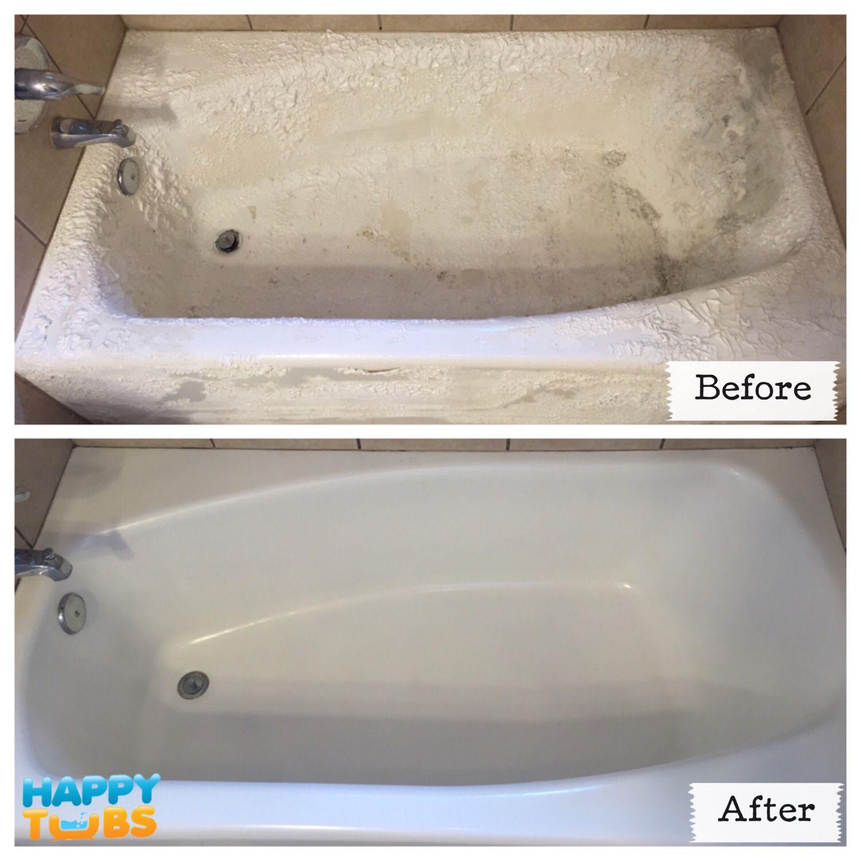 Bathtub Restoration in Richardson, TX! This bathtub was ruined by a ...