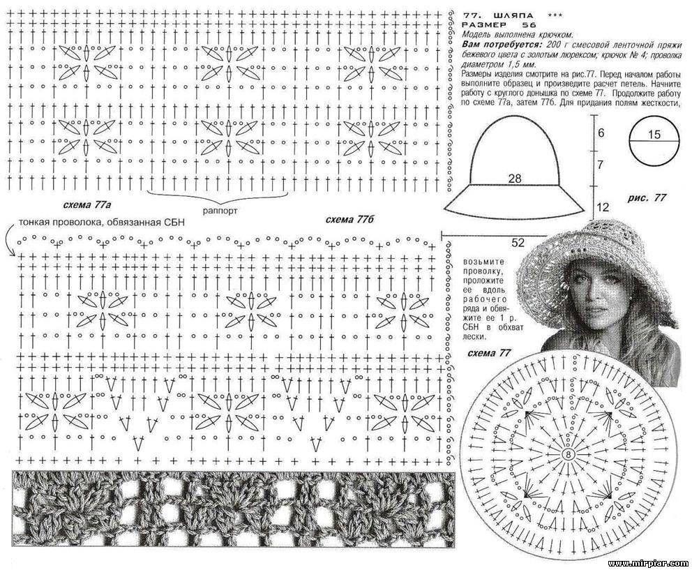Изящная шляпа с большими полями 1 | Sombreros | Pinterest | Gorros ...