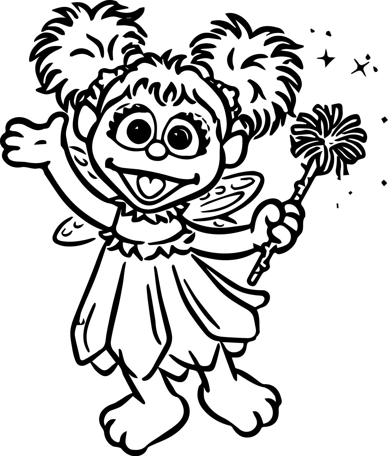 Tattly Sesame Street Characters Abby Cadabby Grande Coloring Page ...