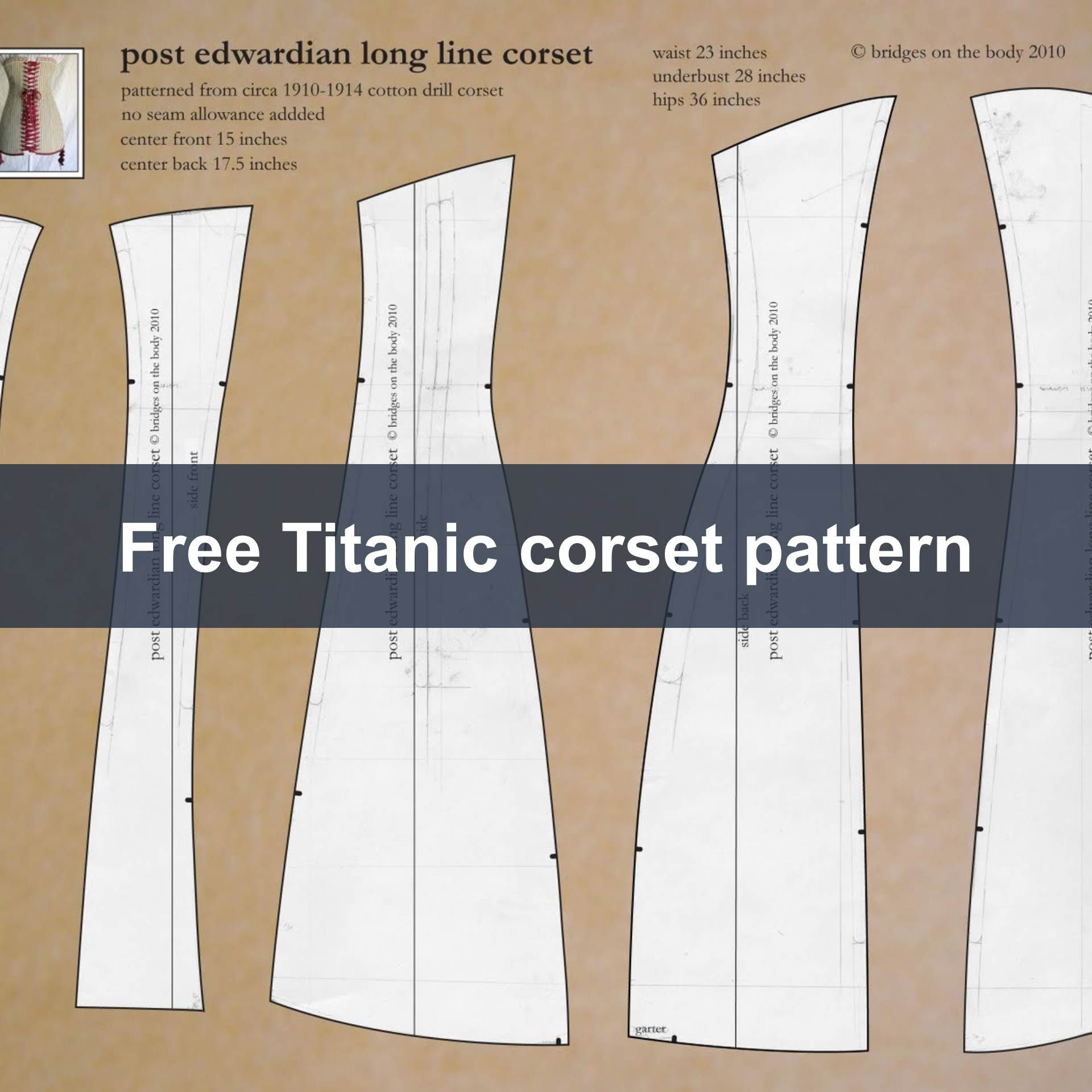 How to enlarge a sewing pattern with powerpoint corset pattern free titanic era corset pattern jeuxipadfo Gallery