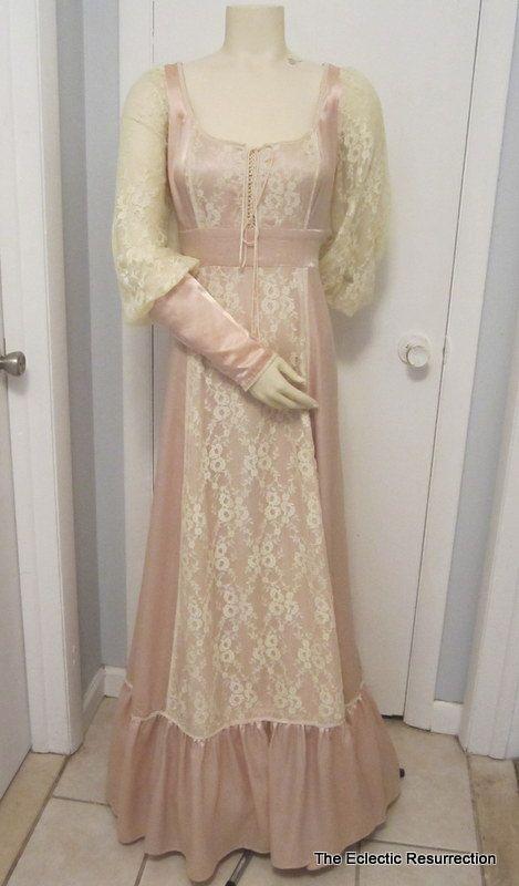 115f84ddaea Vintage Gunne Sax Wedding Dress by Jessica McClintock Ecru Satin ...