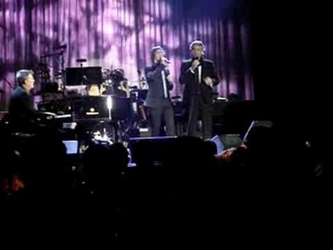 Josh Groban And Andrea Bocelli Sing The Prayer With David Foster At The Piano Thats 3 Of The Best Men In The Music Amazing Songs Private Party Funny Moments