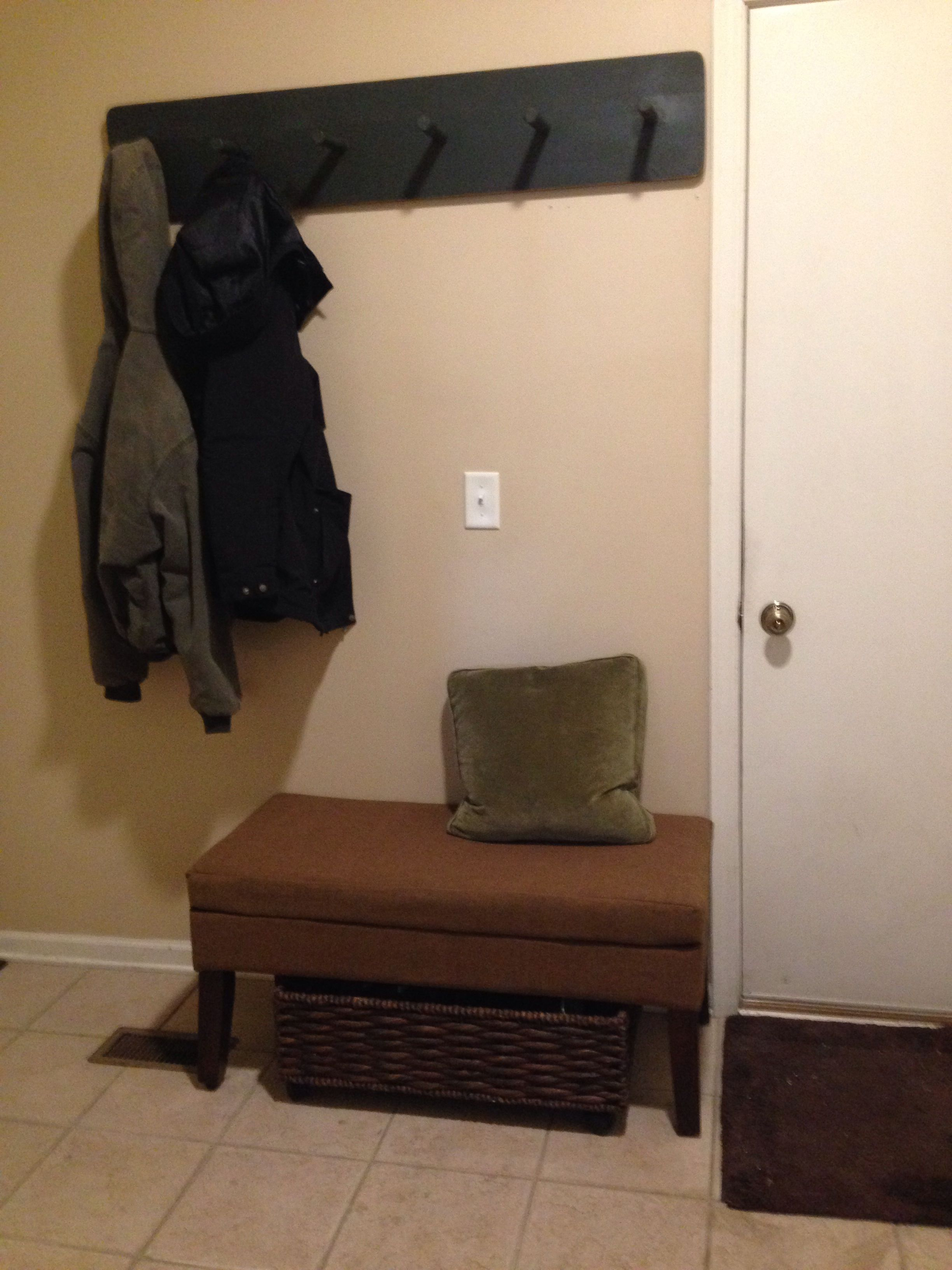 Easy front hall storage (small foyer)