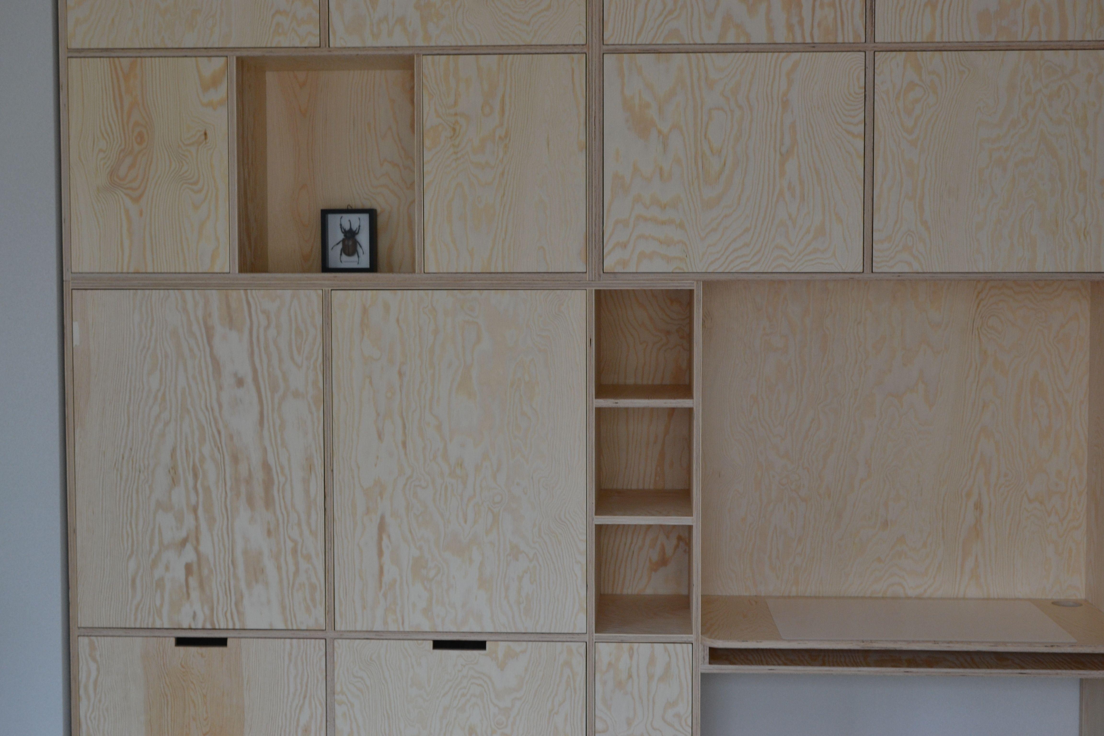 Wandkast Met Vakken Prachtige Vakkenkast Van Berken