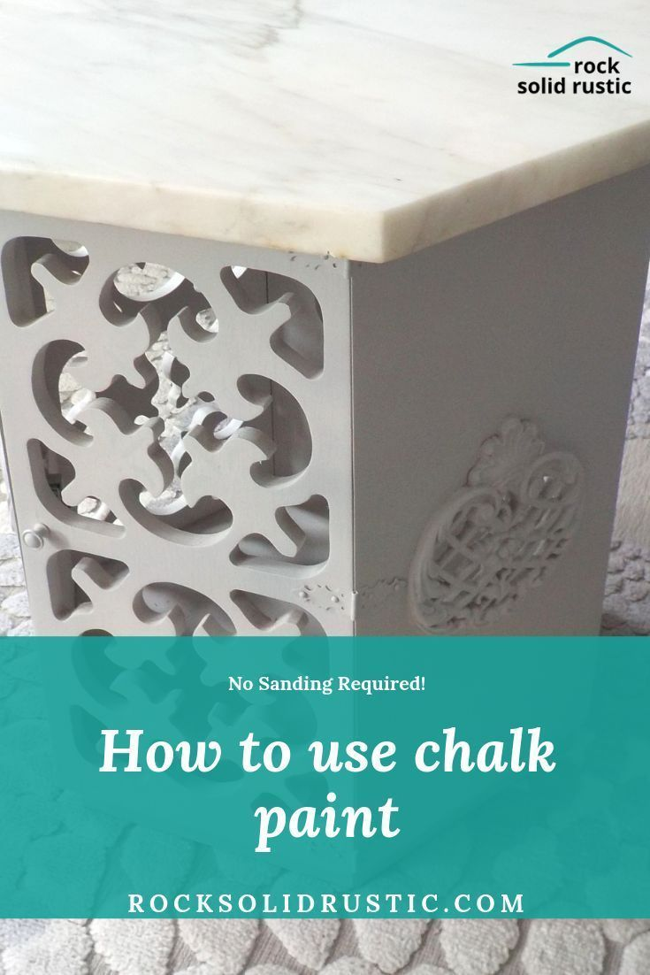 Give your outdated decor and instant update with chalk paint We explain how to