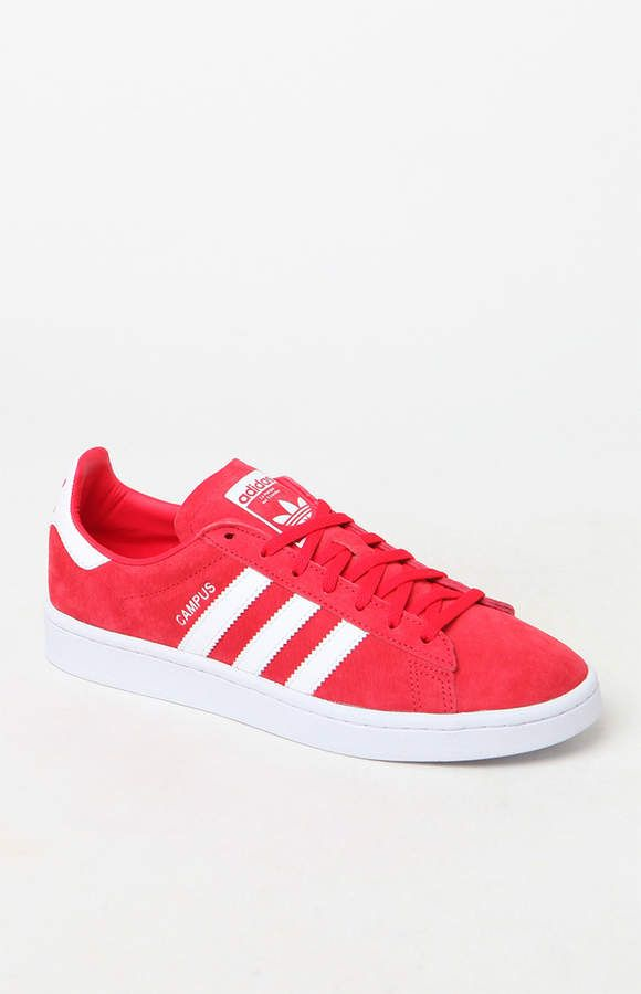 00faa34d39ca adidas Women s Red Campus Sneakers