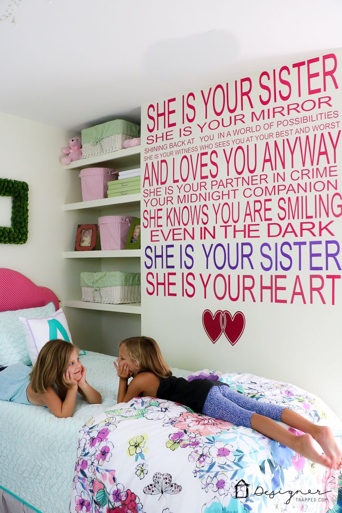 Make Your Own Decals to Create a Custom Wall Quote Girl