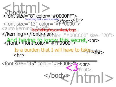HTML for blogging help