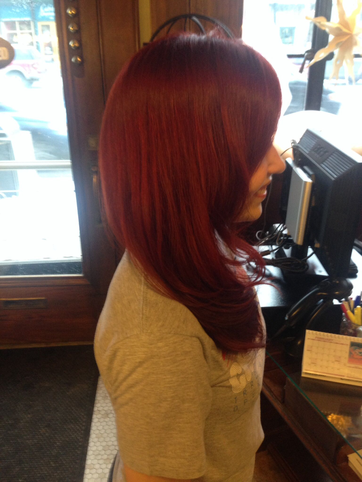 The perfect red! Redken color. On @Katelyn Schwamberger