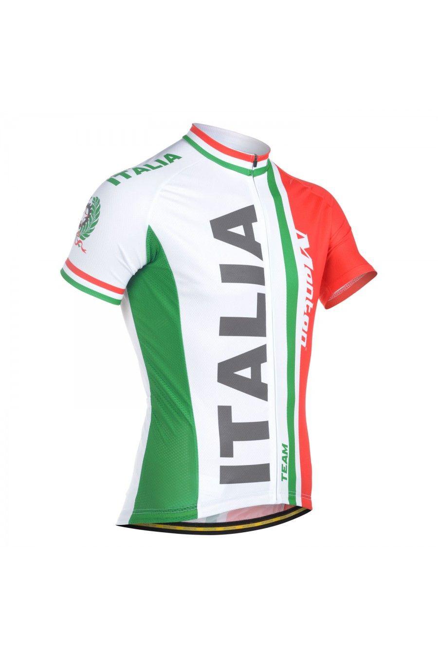 bf9e1945c Monton Italian Flag Short Sleeve Cycling Jersey