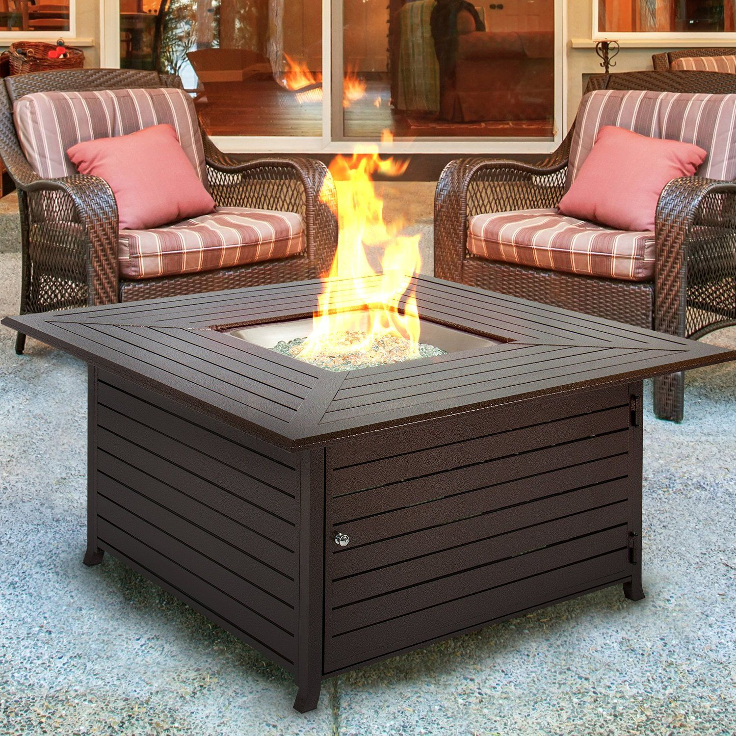 Firepits Patio Heaters At Brookstone Shop Now Backyard Fire Fire Pit Backyard Outdoor Fire Pit Table