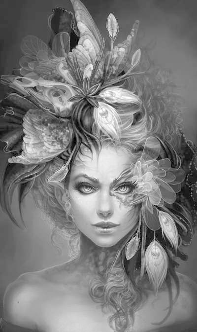 Pinterest Grayscale Coloring Pages Designs Trend