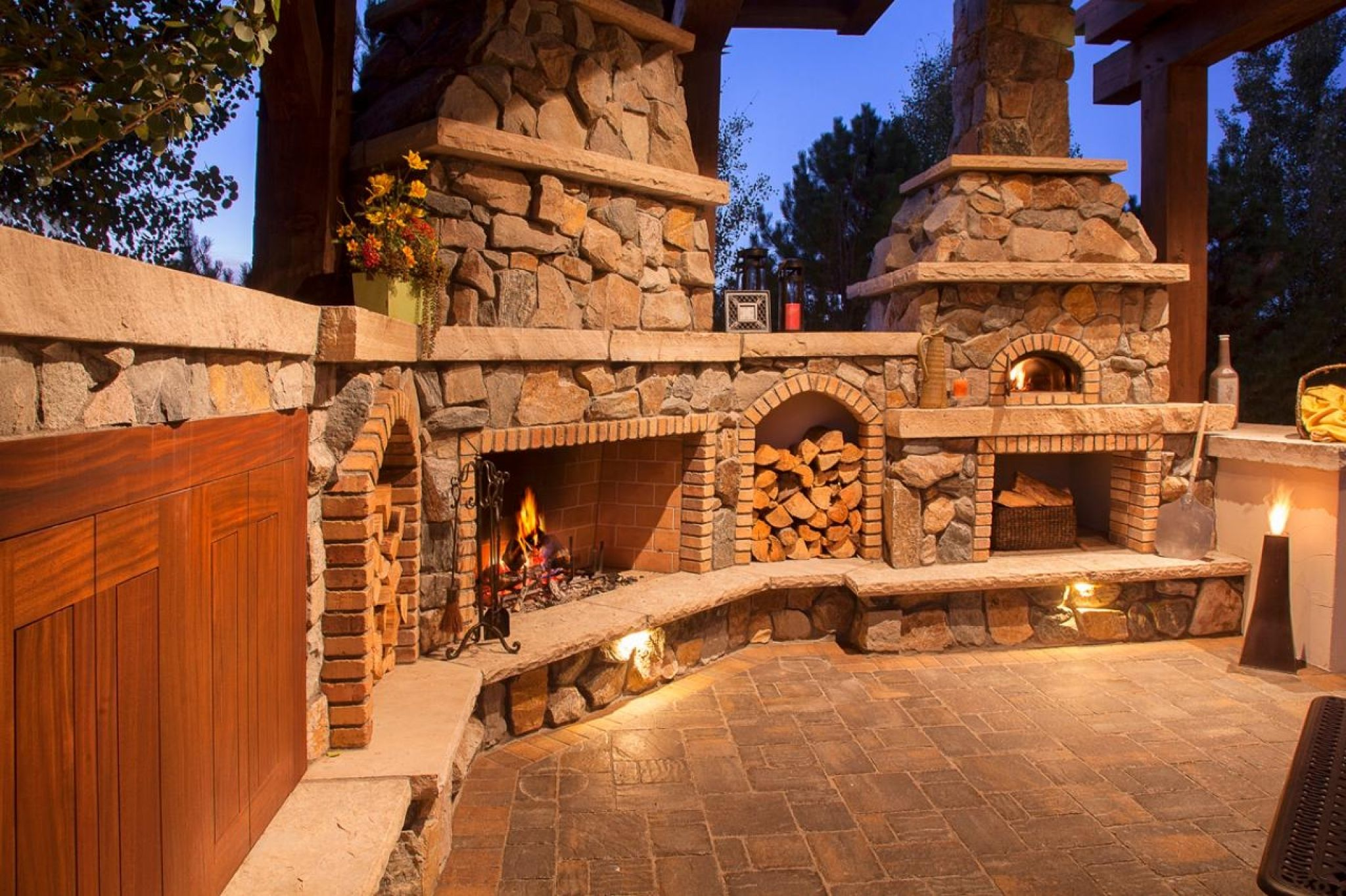 outdoor fireplace kits with pizza oven most popular