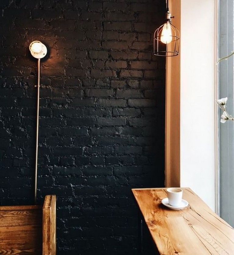 10 Unique Interior Brick Wall Paint Ideas For A Stylish Look Wall Wallpaint Wallpaintingideas Black Brick Wall Brick Interior Wall Brick Interior